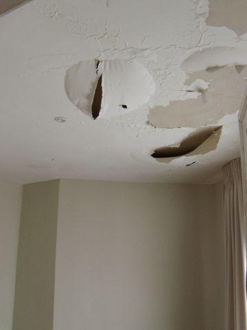 Bouwdroger - Help!! Het plafond valt naar beneden!!