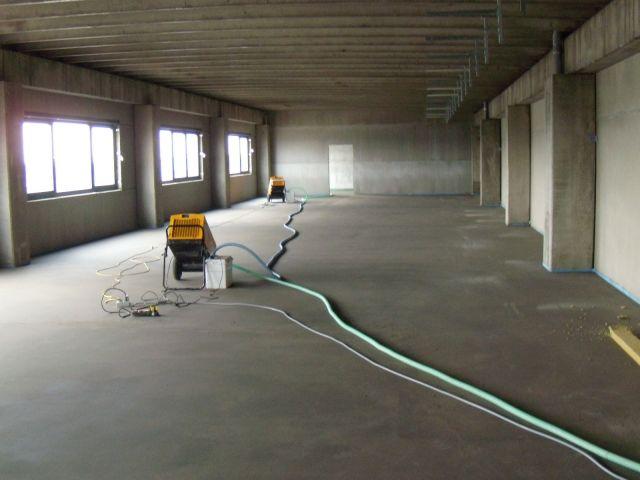 Bouwdroger Het drogen van een opslagruimte 0
