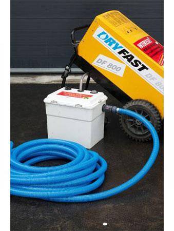 Bouwdroger - Pompbox met 18 meter afvoerdarm